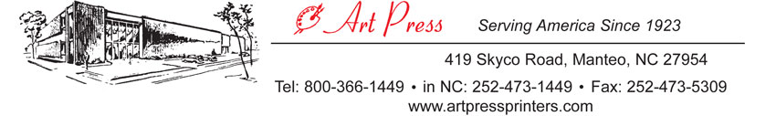 Raffle ticket and coupon book printing, Art Press
