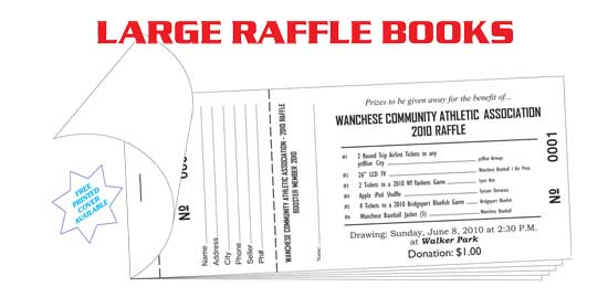 Raffle Tickets Amp Coupon Books Printers Wholesale Prices